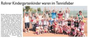Kindergarten im Tennisfieber