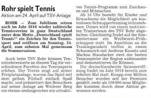Schwabacher Tagblatt 22. April 16