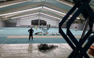 Tennishalle erstrahlt in neuem Glanz