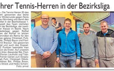Rohrer Tennis-Herren in der Bezirksliga