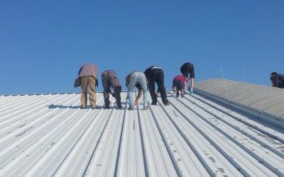 Tennishallen-Dachsanierung
