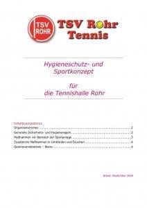 thumbnail of Hygienekonzept Tennishalle Rohr