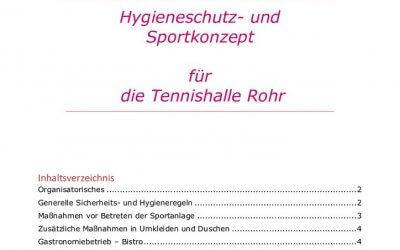 Hygieneschutz- und Sportkonzept Tennishalle