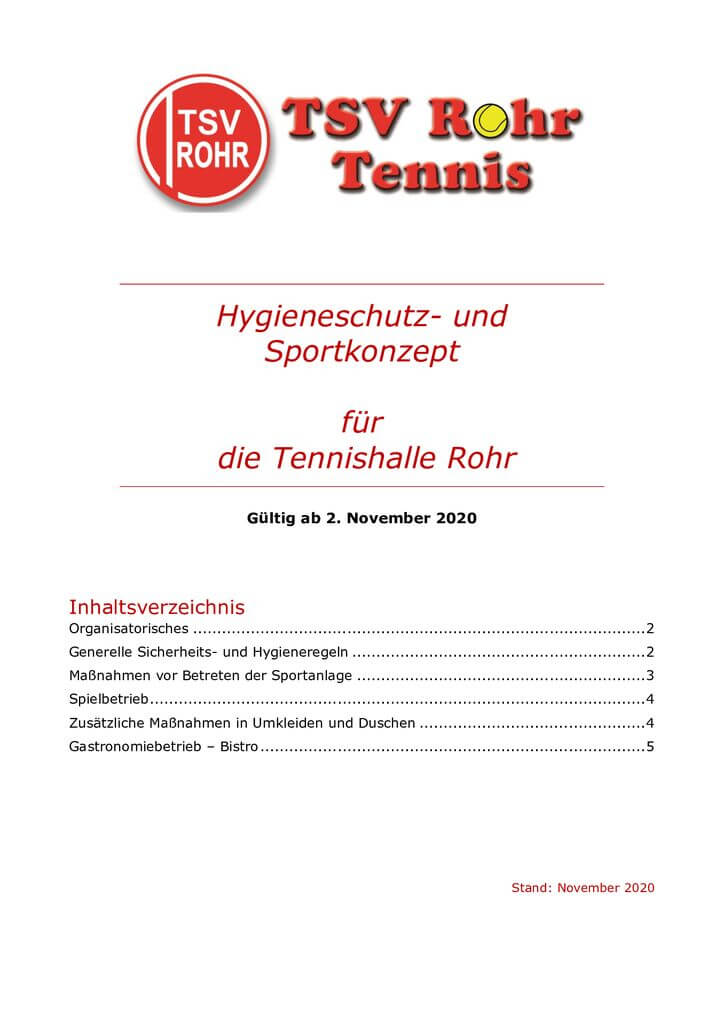 thumbnail of Hygeinekonzept Tennishalle Rohr – November