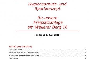 Lockerungen Sport- und Hygienekonzept