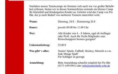 Kleinfeld und KiGa-Tennis-Sommercamp